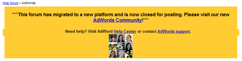 Forum Google AdWords