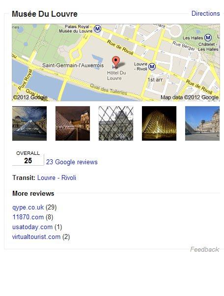 Résultat de recherche sémantique google