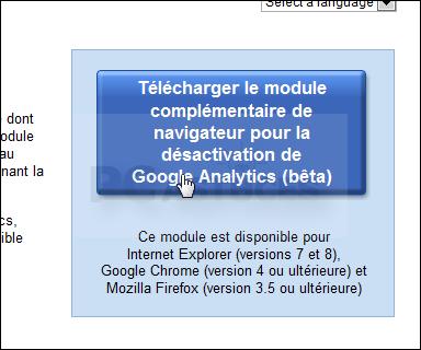 Plugin navigateur Google Analytics pour enlever vos traces sur internet